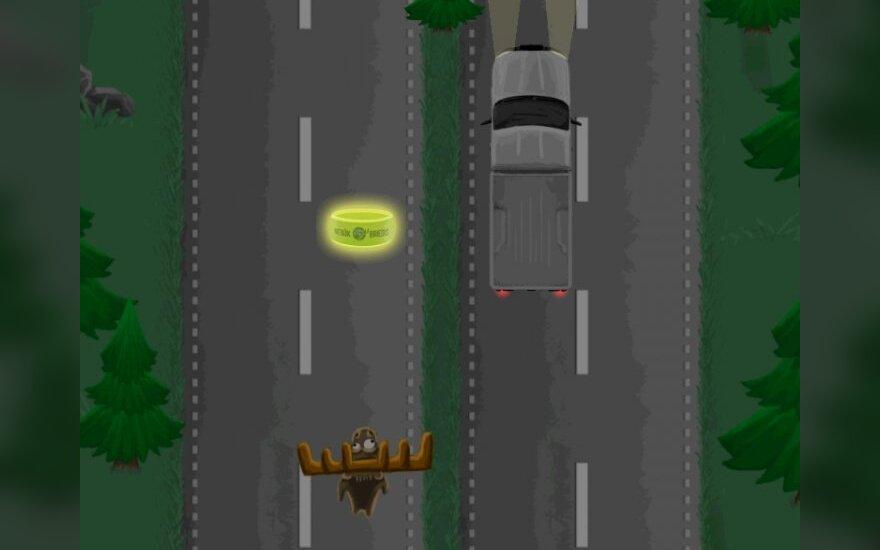 Kuriamas saugaus eismo žaidimas Briedis bebaimis