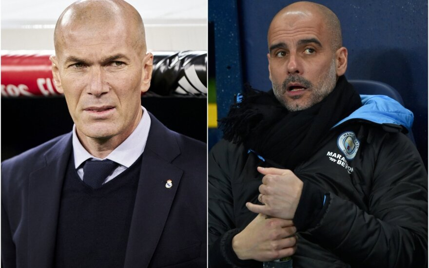Zinedine'as Zidane'as, Pepas Guardiola / Foto: AP-Scanpix,