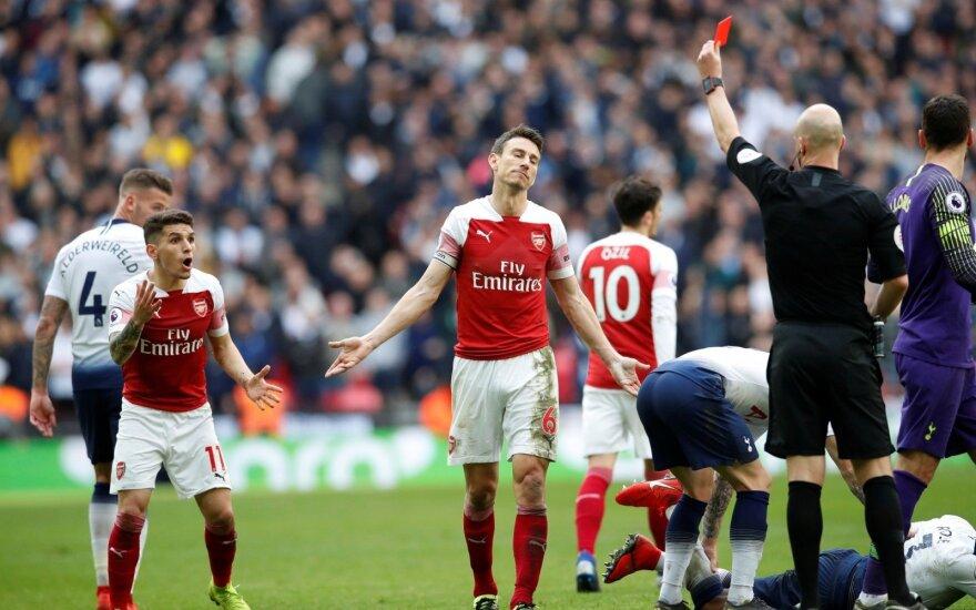 Arsenal ir Tottenham rungtynių akimirka