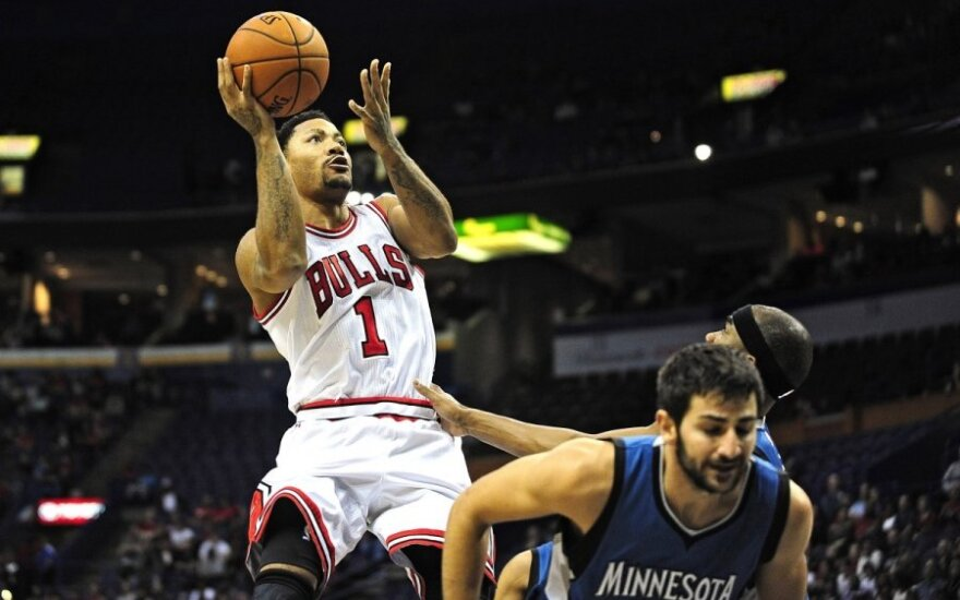 Derrickas Rose prieš NBA sezono startą įgijo puikią sportinę formą