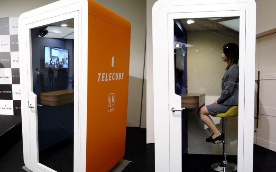 Telefono būdelės dydžio biurai Japonijoje