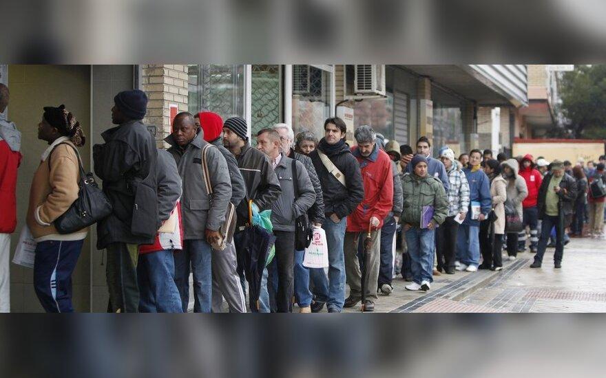 Ispanijos bedarbių skaičius artėja prie 5 mln.