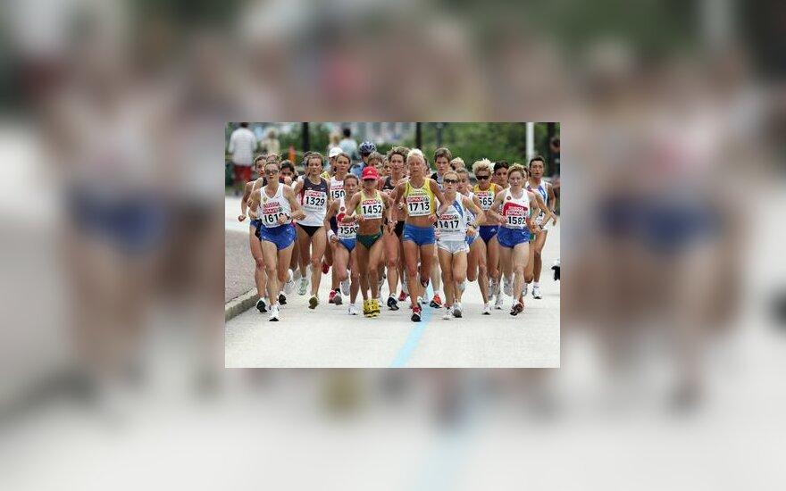 Živilė Balčiūnaitė (Nr.1452) bėga Europos čempionato maratoną
