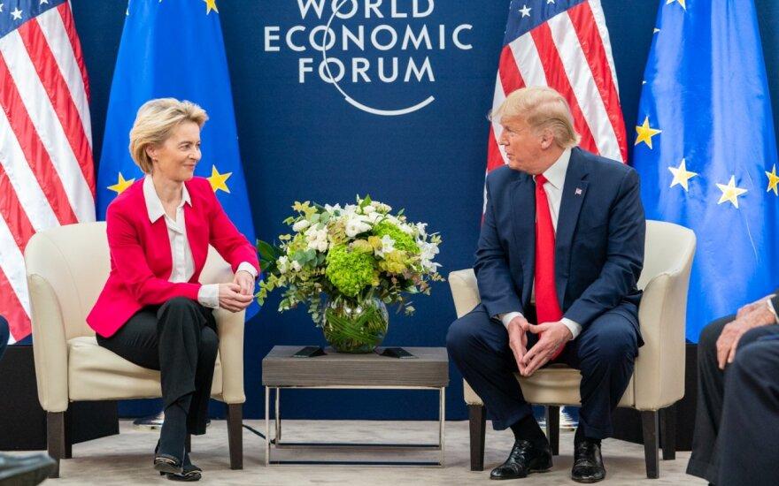 Ursula von der Leyen: prekybos sandoris su JAV gali būti sudarytas per ateinančias kelias savaites