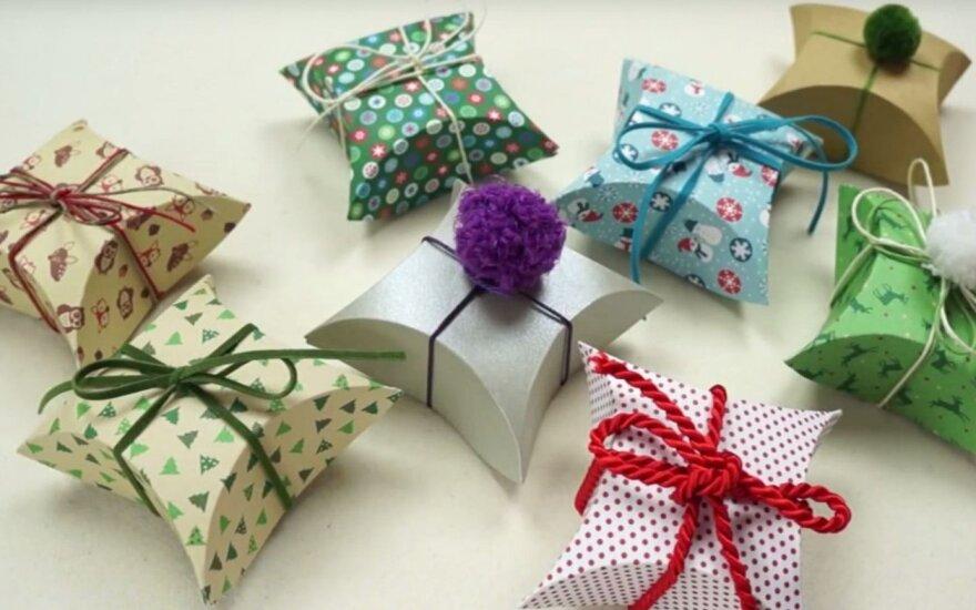 Kaip pasigaminti dovanų dėžutes