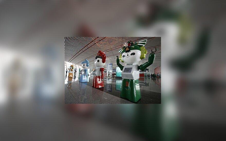 Pekino oro uoste pastatyti olimpiniai robotai