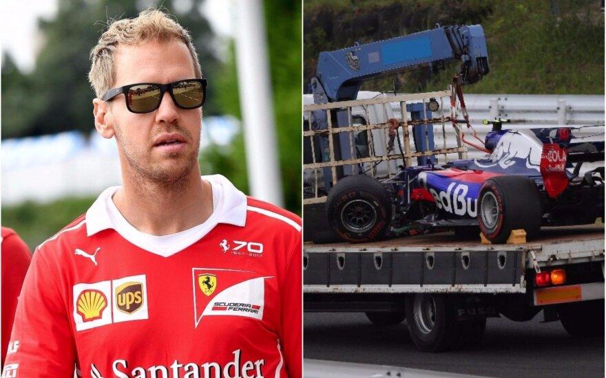 S. Vettelis ir C. Sainzo automobilsi