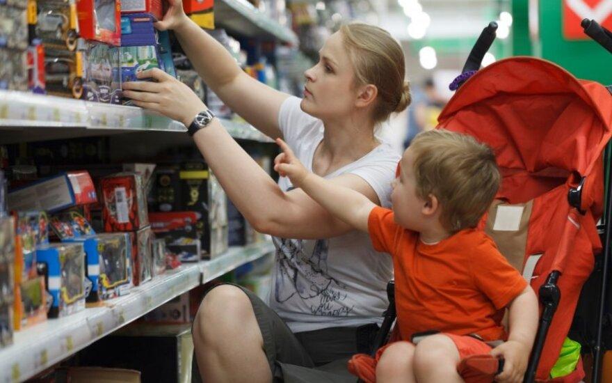 Greitai apsipirkti norėjusiai mama teko nusivilti