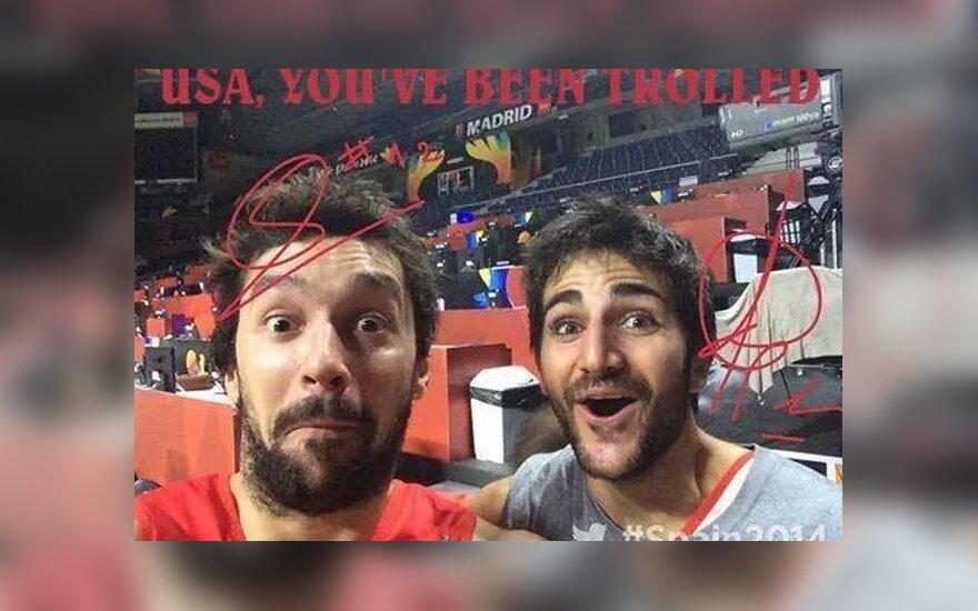 Sergio Llullas ir Ricky Rubio prieš pusfinalį su prancūzais