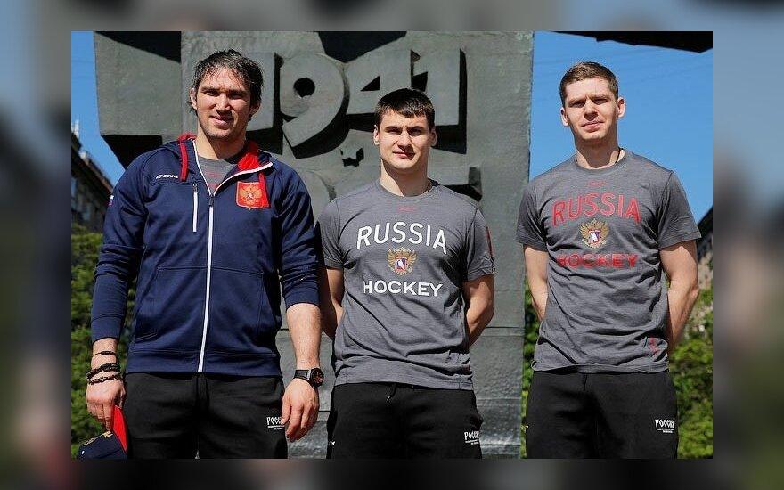 Aleksandras Ovečkinas, Jevgenijus Kuznecovas ir Dmitrijus Orlovas