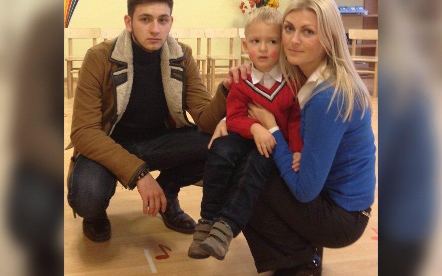 Eglė Jackaitė su sūnumis