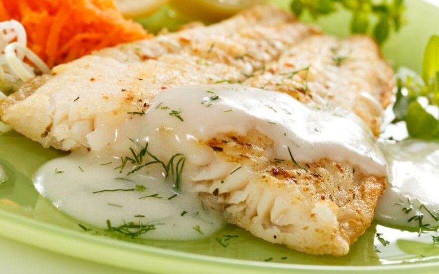 Žuvis su greitu padažu