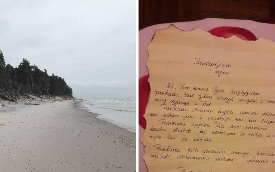 Papėje rastas aistringas lietuvės laiškas butelyje