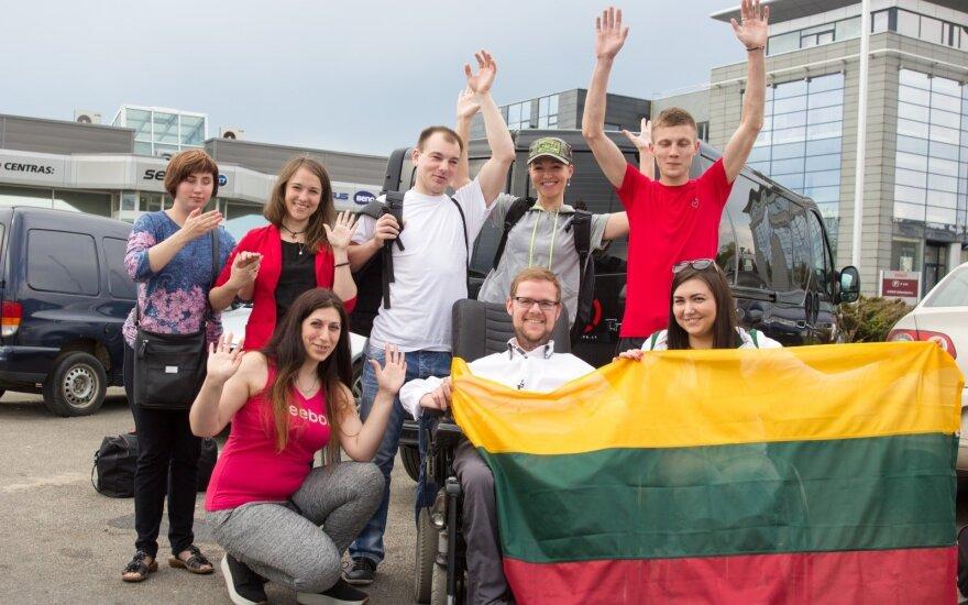 """Projekto """"Draugystė veža"""" dalyviai pajudėjo Stokholmo link"""