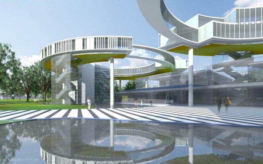 Rendering of Future Cancer Hospital in Vilnius. UPMC Creative Svcs