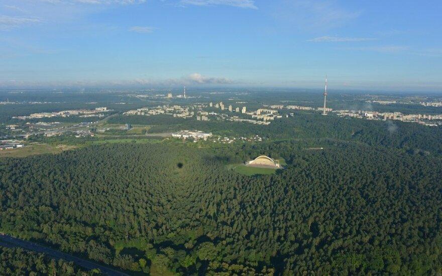 Vilnius from a hot air balloon
