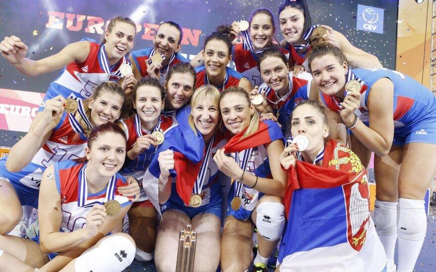Serbijos tinklininkės antrą kartą tapo Europos čempionėmis