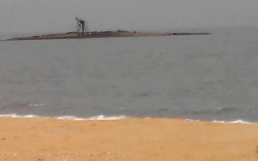Azovo jūroje – neįprastas darinys