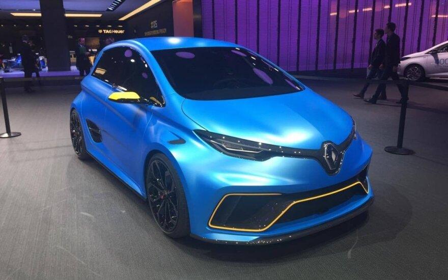 "Koncepcinis sportinis elektromobilis ""Renault Zoe E-Sport"""