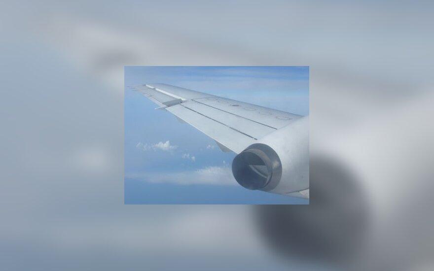 Lėktuvas, sparnas, skrydis, dangus