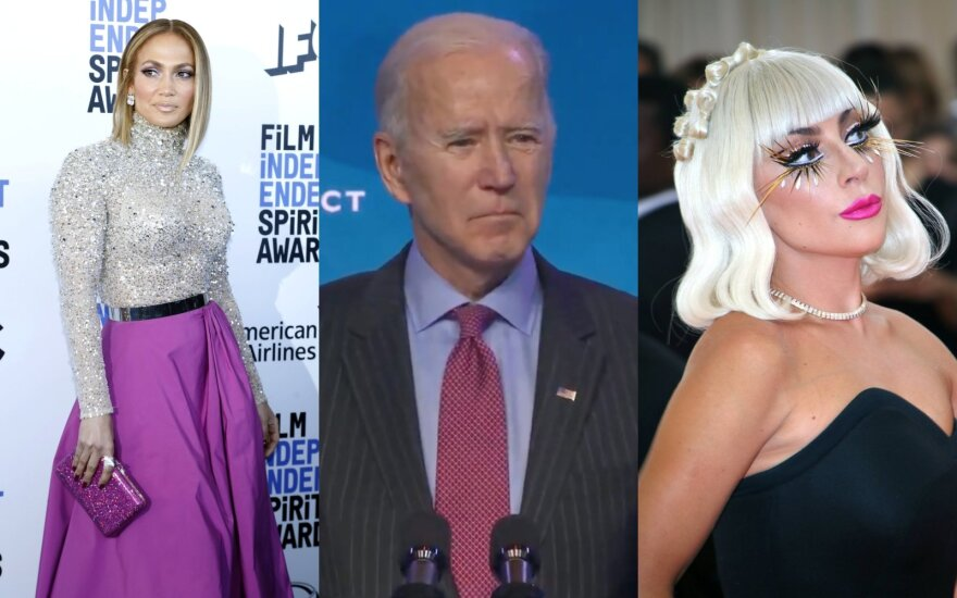 Jennifer Lopez, Joe Bidenas, Lady Gaga