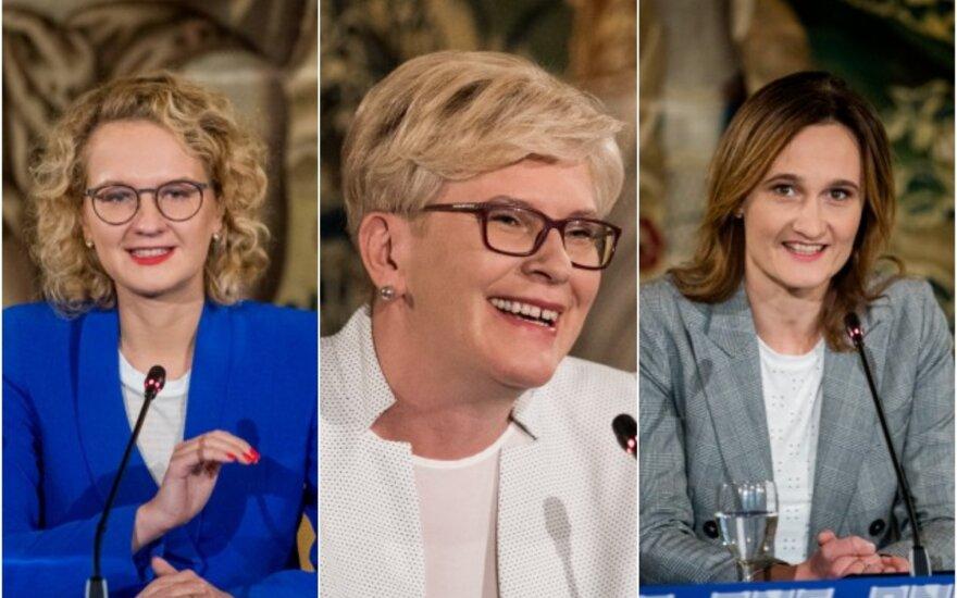 Viktorija Čmilytė-Nielsen, Ingrida Šimonytė, Aušrinė Armonaitė.
