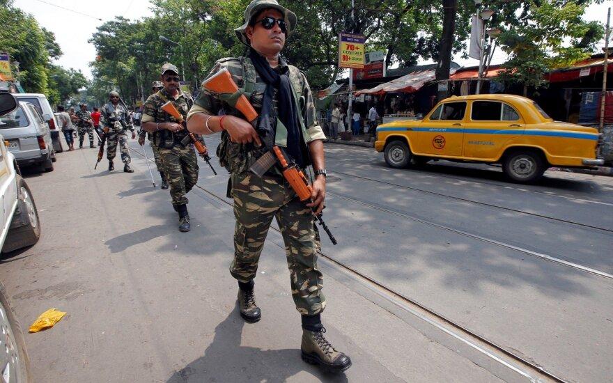 Prieš Indijos rinkimų kulminaciją Kolkatoje išaugo įtampa