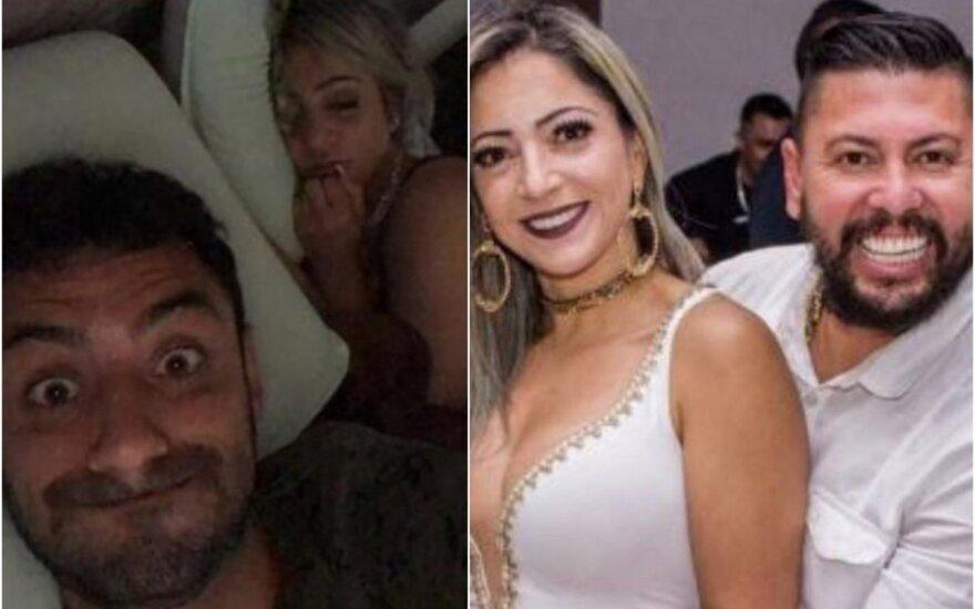 Danielis Correa Freitasas (kairėje), Cristiana Brittes, Edisonas Brittesas / Foto: Twitter, Instagram