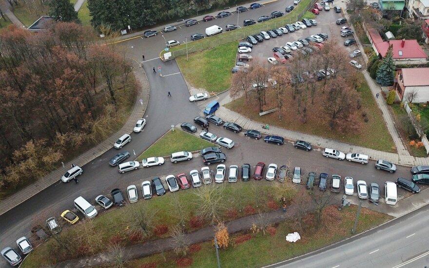 Planuojamos Kauno klinikų automobilių stovėjimo aikštelės vieta