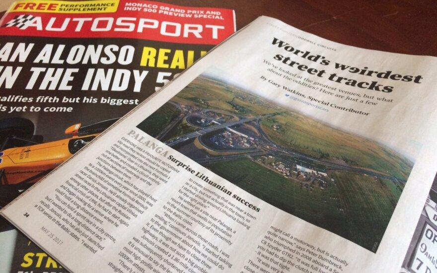 """Žurnalas """"Autosport"""" rašo apie lenktynes Palangoje"""