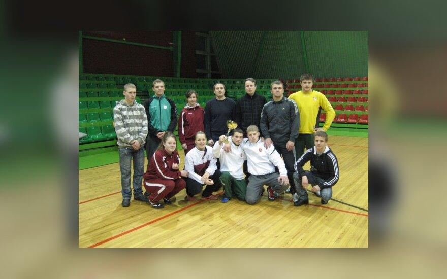 """Joniškio klubo """"Kova"""" atstovai"""