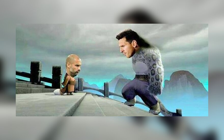 Memas: Josepas Guardiola ir Lionelis Messi