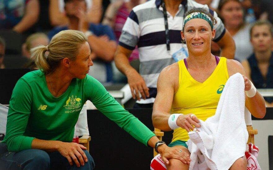 WTA turnyro Prahoje finale – čekė ir australė