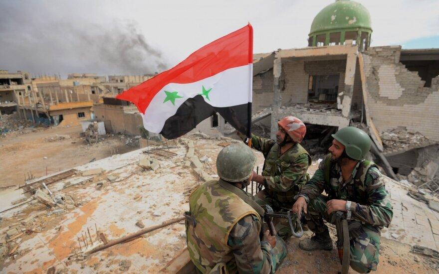 Pirmąkart per šešerius metus Sirijos kariuomenė įžengė į Manbidžą
