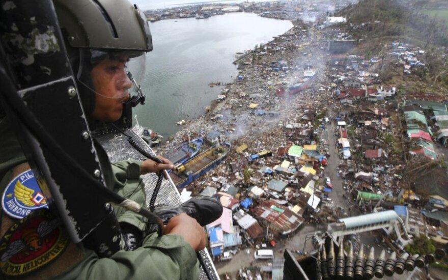 Filipinai po praūžusios atogrąžų audros