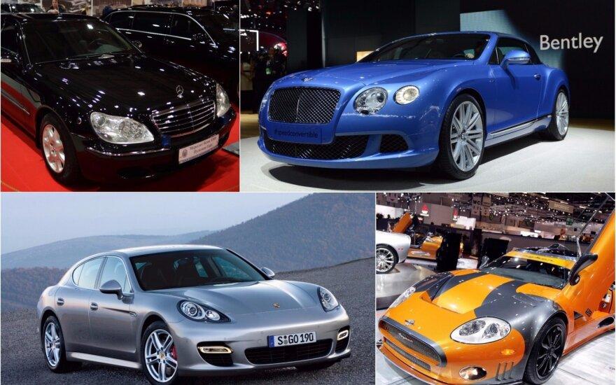 Svetimus pinigus saugančiose įstaigose galima rasti tikrai prašmatnių automobilių