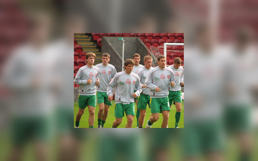 Lietuvos futbolo rinktinės treniruotė