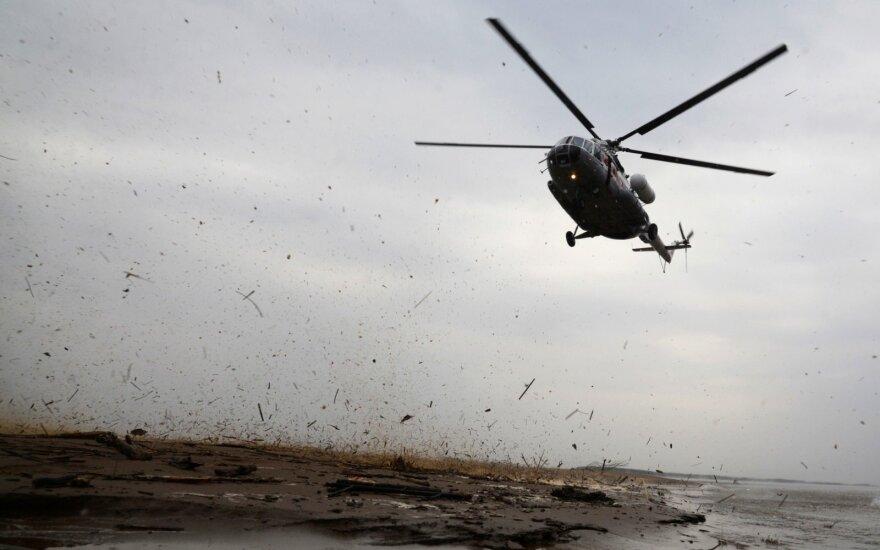 Rusijos Sibire dingęs sraigtasparnis rastas nukritęs miške
