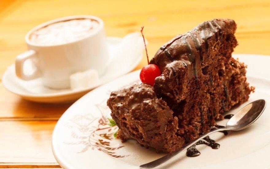Kavos pyragas su mėtomis