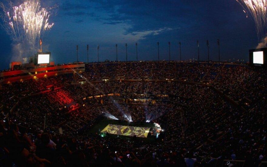 """Pirmadienį įvyko """"US Open"""" turnyro atidarymo ceremonija"""