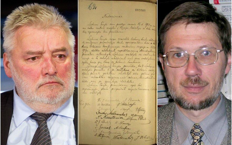 Alfredas Bumblauskas, Vasario 16-osios aktas ir Liudas Mažylis