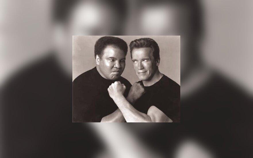 M.Ali ir A.Schwarzenegger