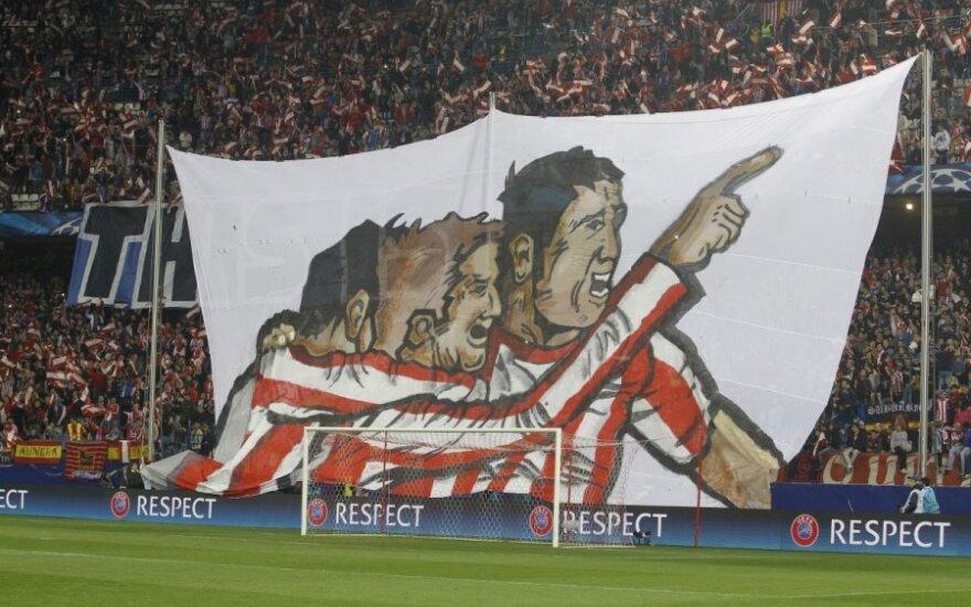 """Madrido """"Atletico"""" klubo fanų plakatas"""