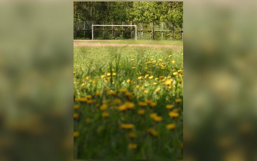 Futbolo aikštė, futbolas