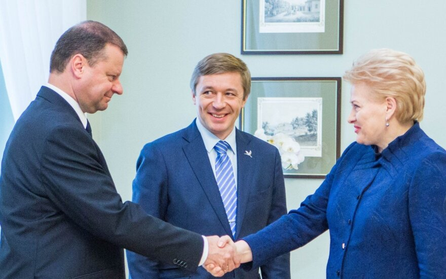 Saulius Skvernelis, Ramūnas Karbauskis, Dalia Grybauskaitė