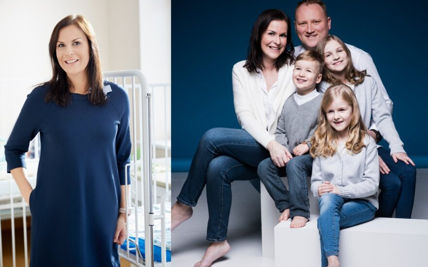Ieva Šuipė su šeima
