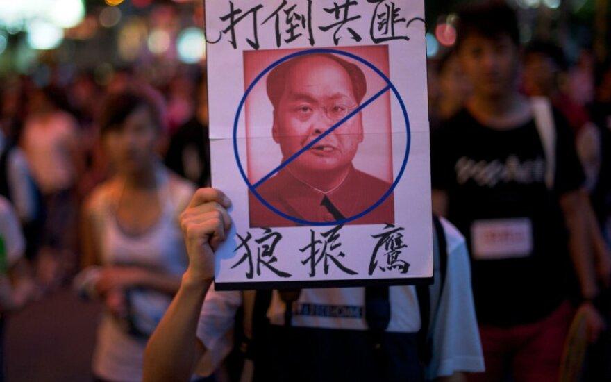 Dešimtys tūkstančių žmonių Honkonge protestavo prieš Kiniją