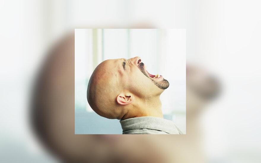 rėkti, šaukti, balsas, pyktis, stresas, vyras, nervai