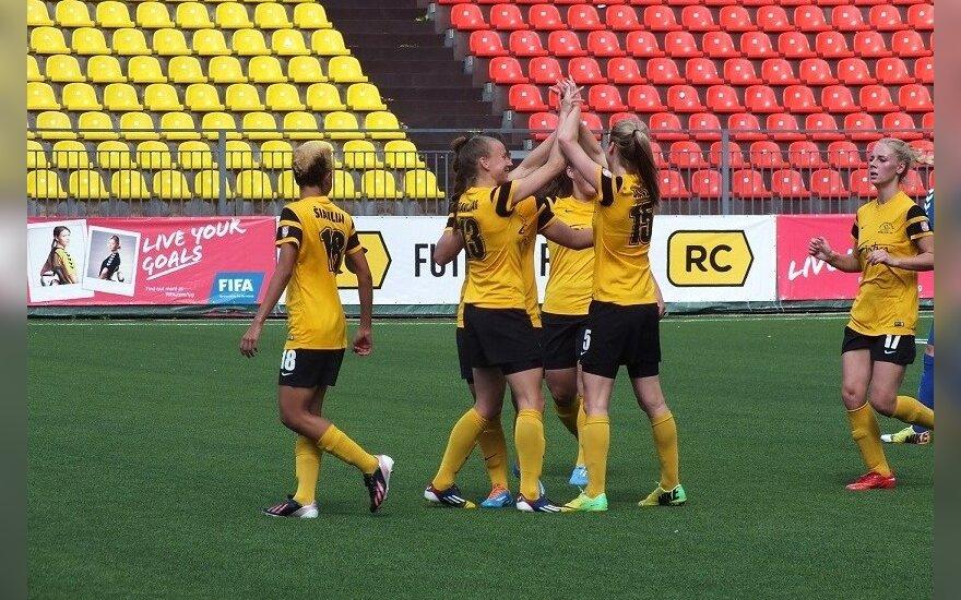 "Moterų futbolo A lygoje – net 14-a ""Gintros-Universiteto"" įvarčių"