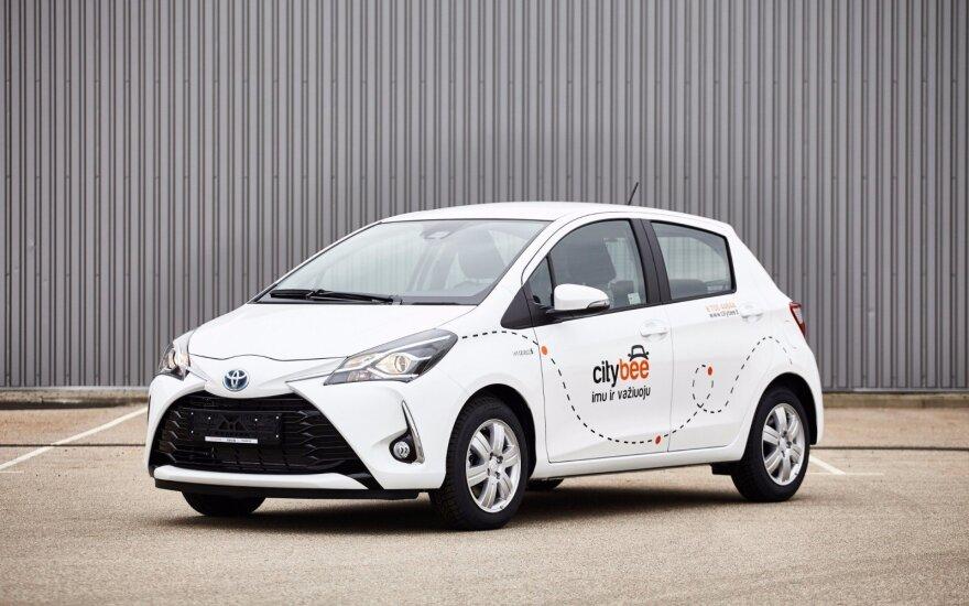 """""""CityBee"""" kompanijos """"Toyota Yaris"""""""